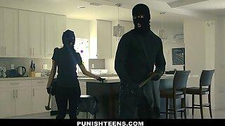 PunishTeens - Big Ass Thief Handcuffed and Fucked