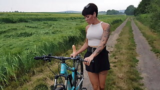 The original! Lara Berrgmann misuses your bike!