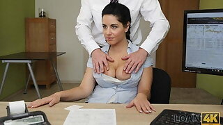 LOAN4K. Crazy sex on the desk in loan office for necessary