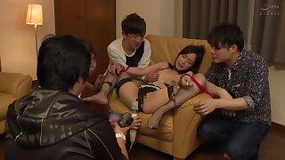 Horny Japanese Teen gangbang amateur porn clip