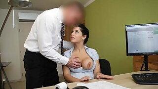 LOAN4K. Big-breasted hottie satisfies man to get necessary loan