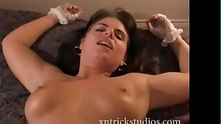 Young amateur brunette shy on camera